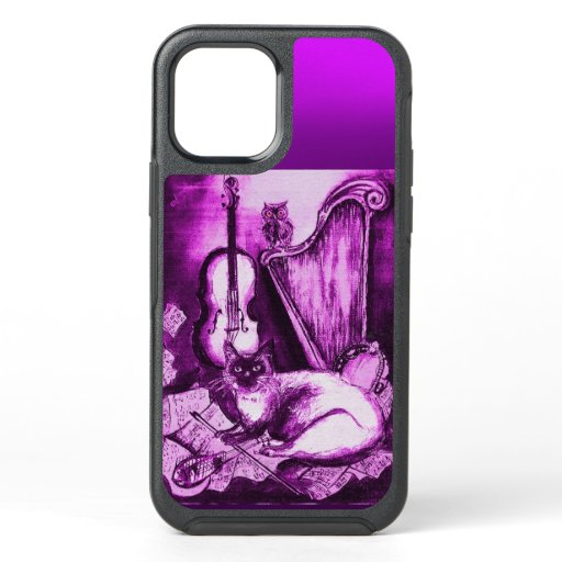 MUSICAL CAT AND OWL  Purple White OtterBox Symmetry iPhone 12 Case