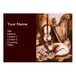 MUSICAL CAT, Brown and White Business Cards