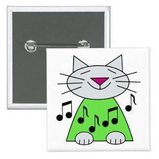 Musical Cat Green Button