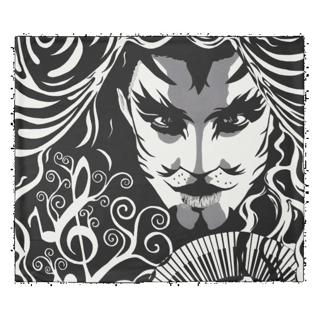 Musical Catman duvet Cover