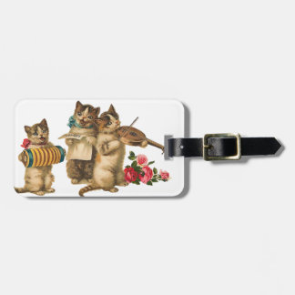 Musical Cats Luggage Tag