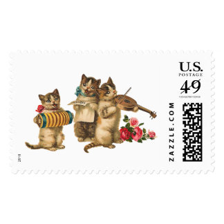 Musical Cats Postage Stamp