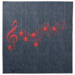 Musical Celebration Red Lace Napkins