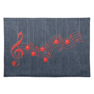 Musical Celebration Red Lace Place Mat