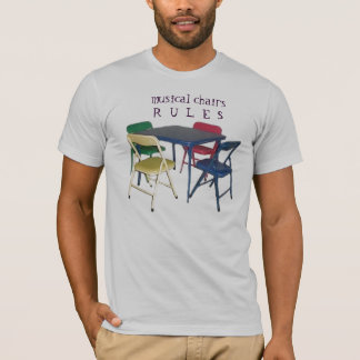 musical chairs rules v.2 by ~bluedecker97 T-Shirt