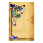MUSICAL CHRISTMAS ANGEL FLORAL PARCHMENT STATIONERY PAPER