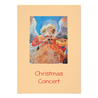MUSICAL CHRISTMAS ANGEL PERSONALIZED INVITATION