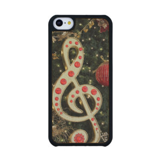 Musical Christmas Carved® Maple iPhone 5C Slim Case
