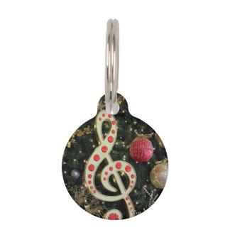 Musical Christmas Pet Nametags