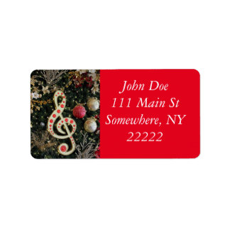 Musical Christmas Address Label