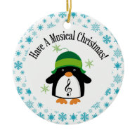 Musical Christmas Music Penguin Gift Christmas Ornament