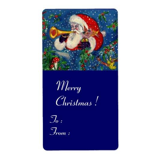 MUSICAL CHRISTMAS NIGHT/SANTA BUGLER LABEL