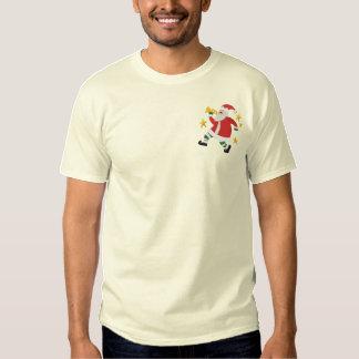 Musical Christmas - Santa Embroidered T-Shirt