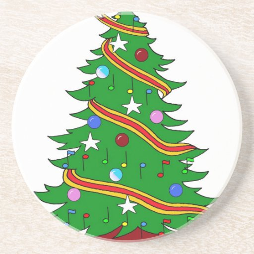 Musical Christmas Tree Beverage Coasters