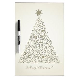 Musical Christmas tree Dry Erase Board