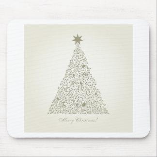 Musical Christmas tree Mouse Pad