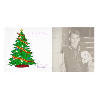 Musical Christmas Tree Photo Card