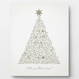 Musical Christmas tree Plaque