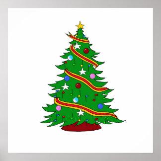 Musical Christmas Tree Print