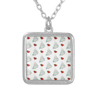 Musical Christmas Tree Silver Plated Necklace