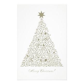 Musical Christmas tree Stationery