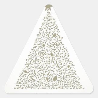 Musical Christmas tree Triangle Sticker