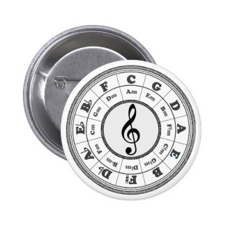 Musical Circle of Fifths Pinback Buttons