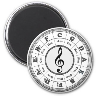 Musical Circle of Fifths 2 Inch Round Magnet