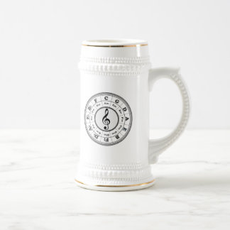 Musical Circle of Fifths 18 Oz Beer Stein