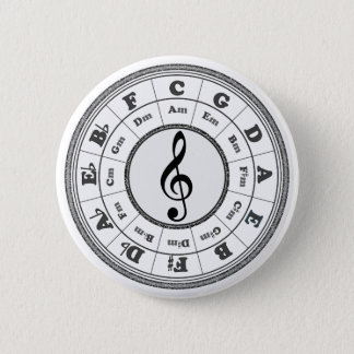 Musical Circle of Fifths Pinback Button