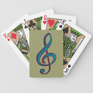 musical clave note bicycle playing cards