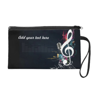 Musical Cleft Note Abstract Wristlet Purse
