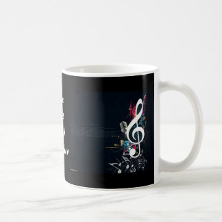 Musical Cleft Note Abstract Coffee Mug