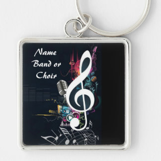 Musical Cleft Note Abstract Keychain