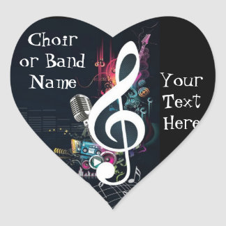 Musical Cleft Note Abstract Sticker