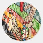 MUSICAL CLOWN.jpg Round Stickers