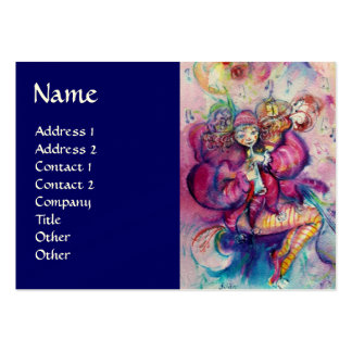 MUSICAL CLOWN LARGE BUSINESS CARD