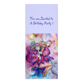 MUSICAL CLOWN ,pink blue Card