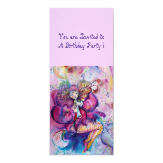 MUSICAL CLOWN ,pink blue Personalized Announcement