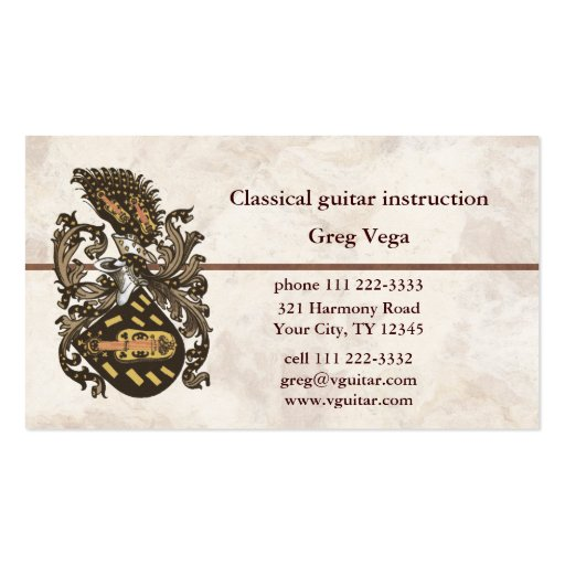 Musical Coat of Arms Business Card