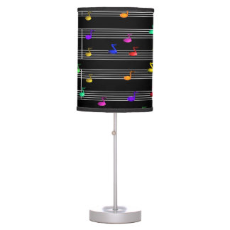Musical Colorful Notes Desk Lamp