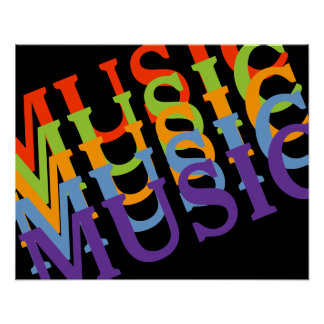 musical colorful walls poster