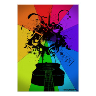 Musical Colour Poster