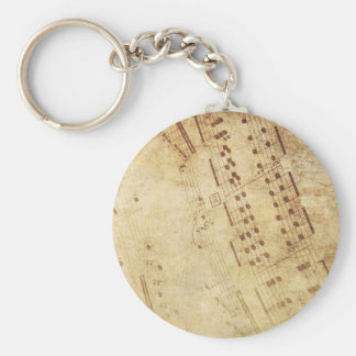 Musical comedy basic round button keychain