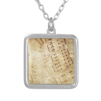 Musical comedy silver plated necklace