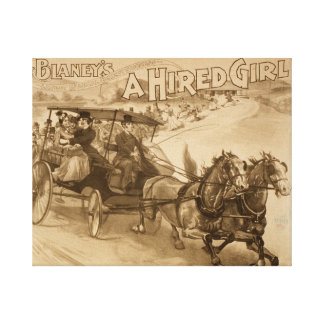 Musical comedy success A-hired girl Canvas Prints