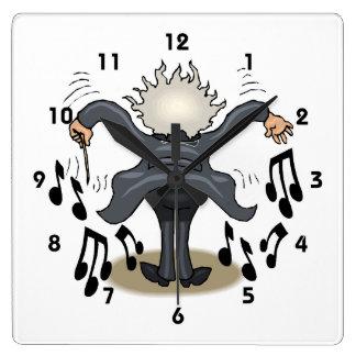 Musical Conductor Square Decorative Wall Clock