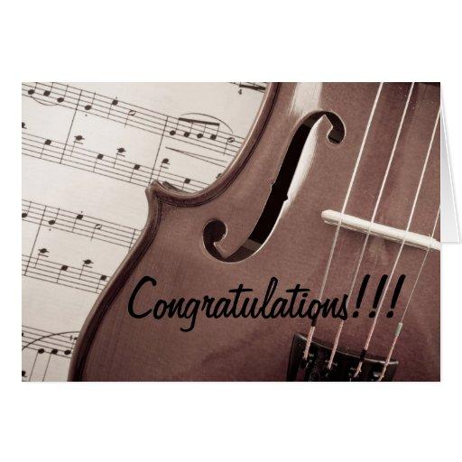 Musical Congratulations Greeting Card