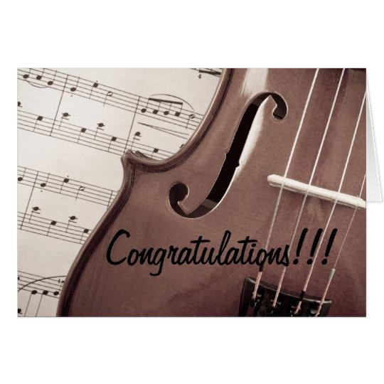 Musical Congratulations Card