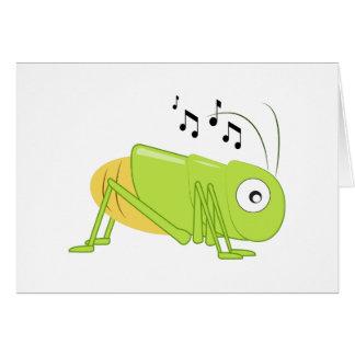 Musical Cricket Greeting Card